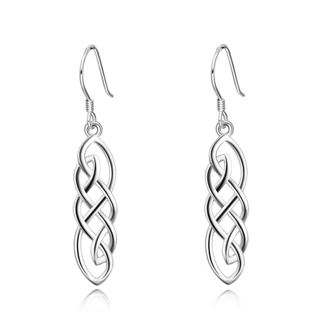 Newest Design Drop Jewelry Rhodium Plating Pendant Earrings Designs For Women