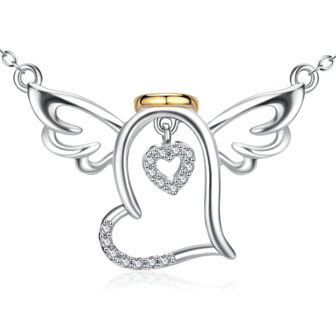 Lucky Wings Angel Necklace Infinite Loving Zirconia Personalized Necklace