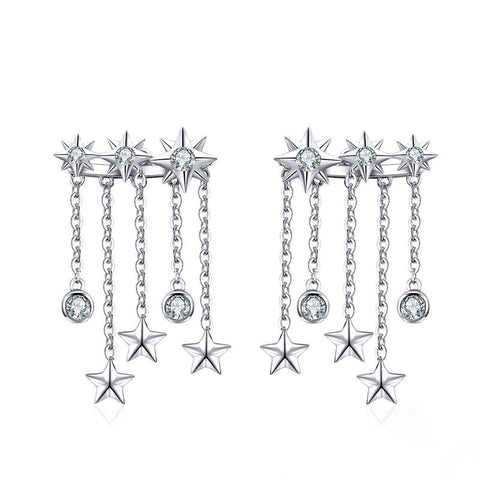 Stars Taseel Long Earrings