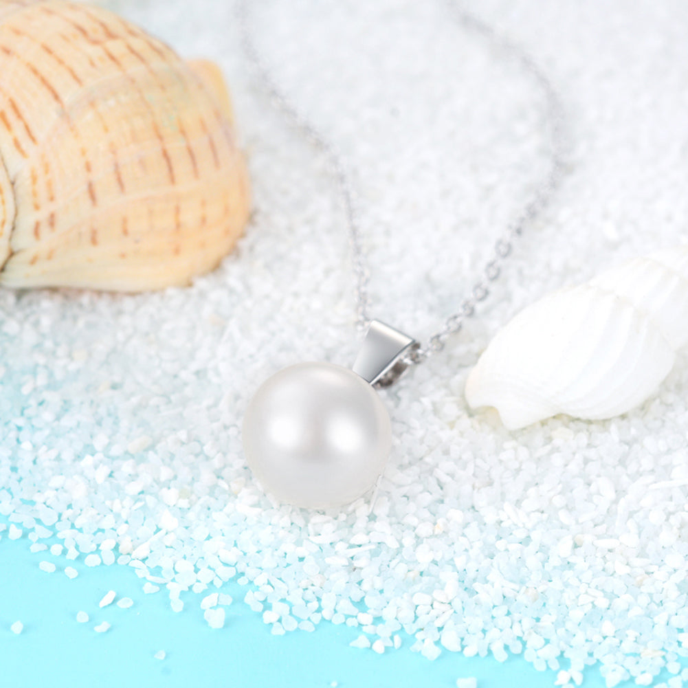 925 Pendant Sterling Silver Jewelry Freshwater Pearl Pendant Necklace