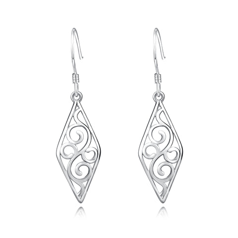 Drop Hollow Earrings Jewelry Chinese Produce Silver Earrings