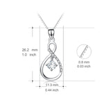 Eight Drop Zirconia Necklace Design Luxury Crystal Elegant Necklace