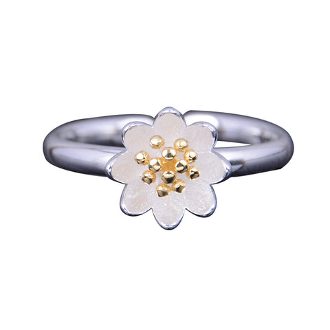 Adjustable Flower Rings Design Opening Wholesale Jewelry