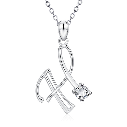 H Customized Necklace 925 Sterling Silver Word design Charm Necklace