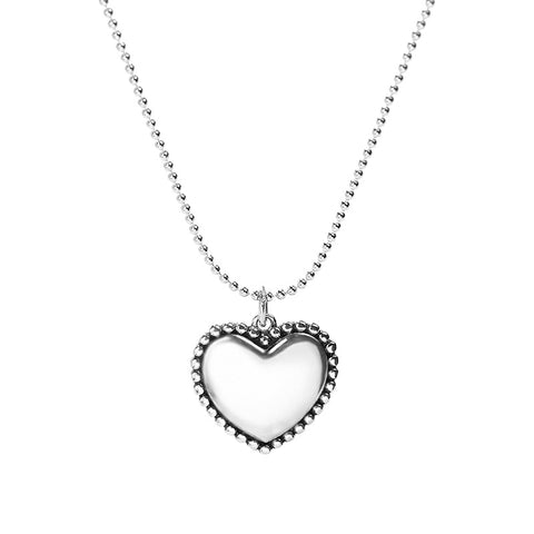 925 Sterling Silver Love Lettering Necklace Side Heart Pendant Female Jewelry
