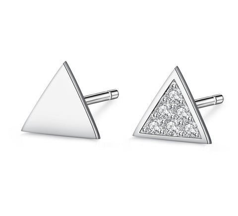 Elegant Triangle Stud Earrings Wholesale 925 Sterling Silver Different Style Triangle Jewelry