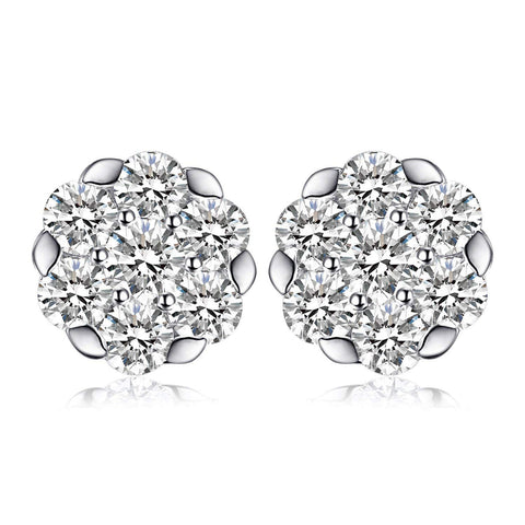 S925 Sterling Silver Fashion Personality Full Diamond Earrings Jewelry Cross-Border Exclusive