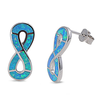 Opal Infinity Stud Earrings