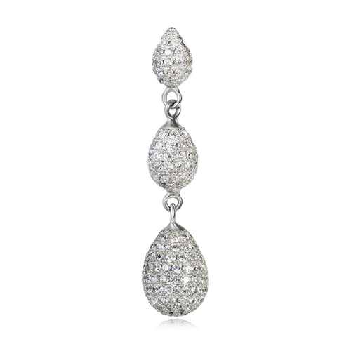 2019 Fancy cubic zirconia pendants for women silver pendant charms
