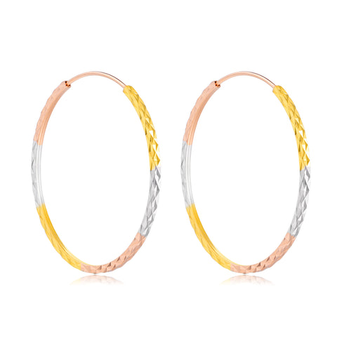 18K Gold European And American Fashion Personality Multicolor Hoop Earrings Large Circle Earrings Female Jewelry