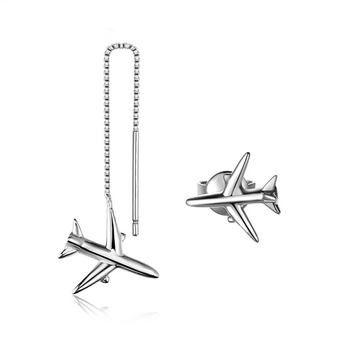 Airplane Thread Drop Earrings