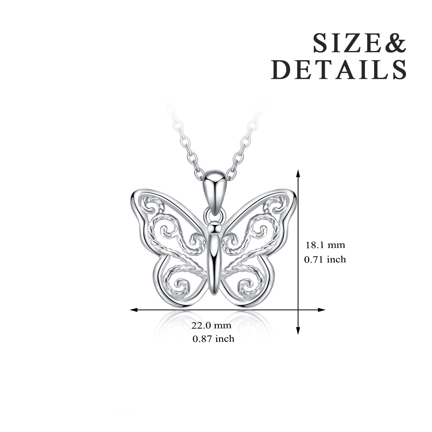 Hollow Butterfly Beautiful Necklace Wholesale Drop Shipping Necklace