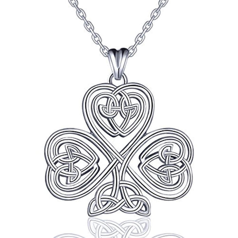 Silver Good Luck Celtic Knot Necklace Pendant