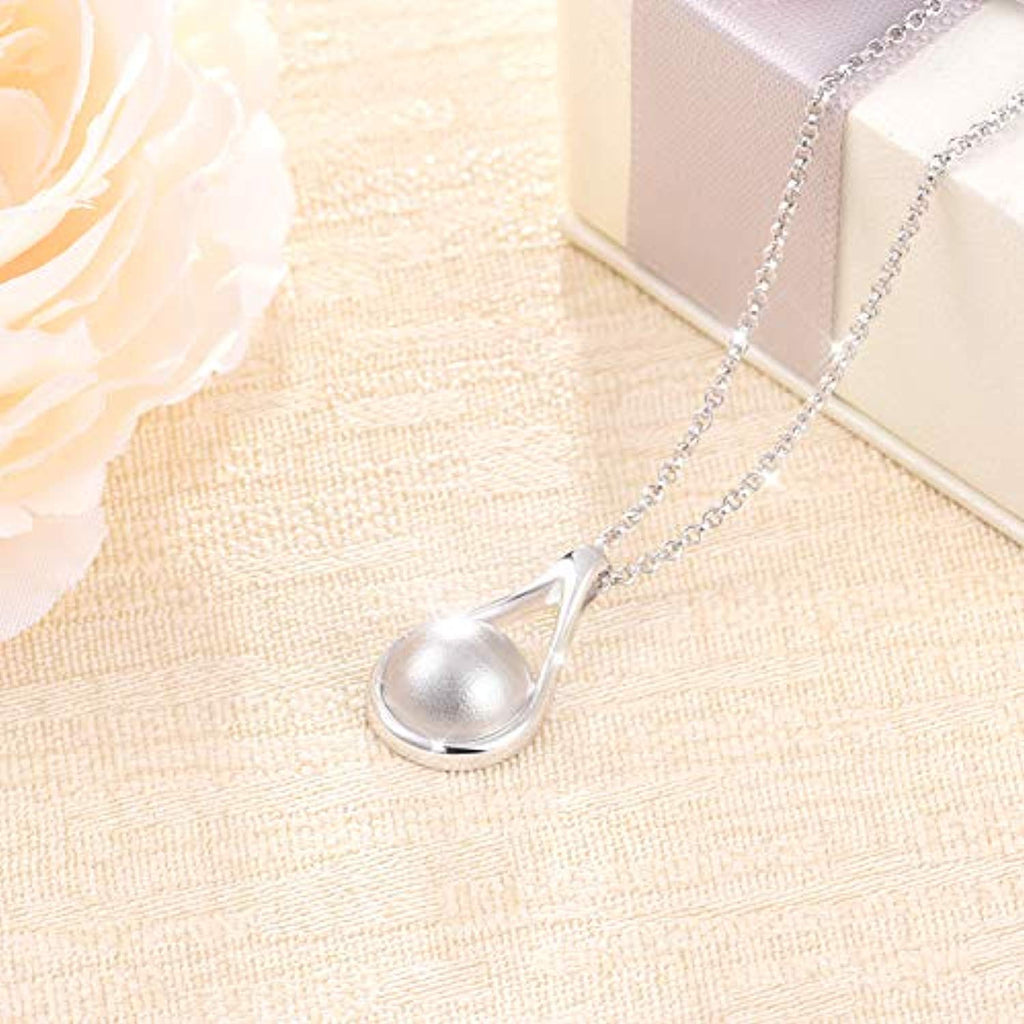 925 Sterling Silver Cremation Memorial Jewelry Teardrop Urn Necklace for Ashes for Women