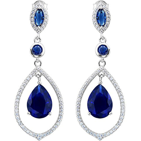 Tear Drop Chandelier Earrings