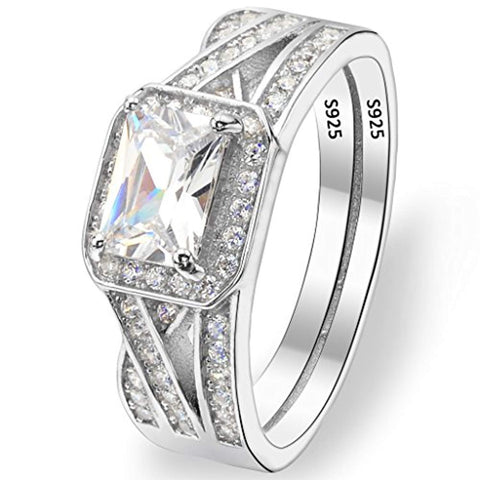 Cut CZ Wedding Engagement Ring