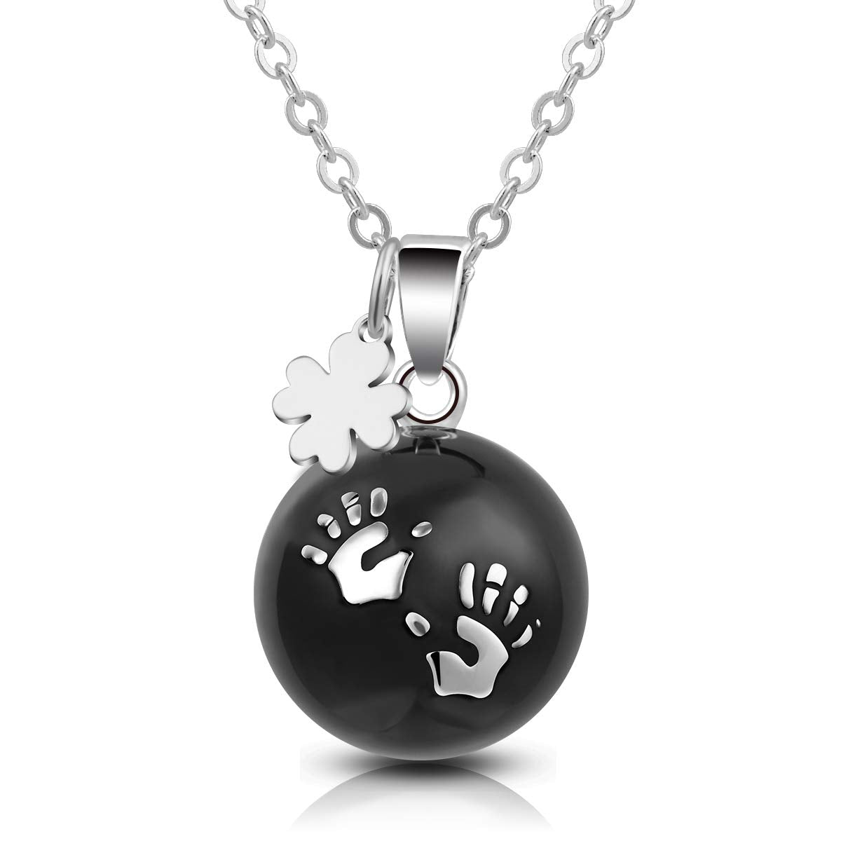 Silver Harmony Bola Pregnancy Necklace
