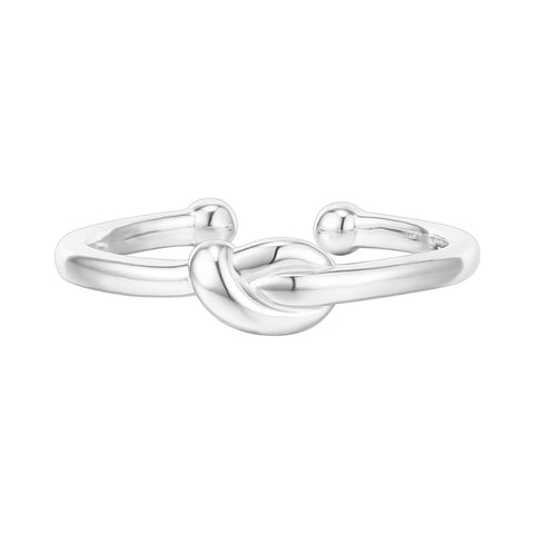 14K Gold Plated 925 Sterling Silver Rings for Women | Promise Rings for Her | Love Knot Stackable Rings | Gold Rings
