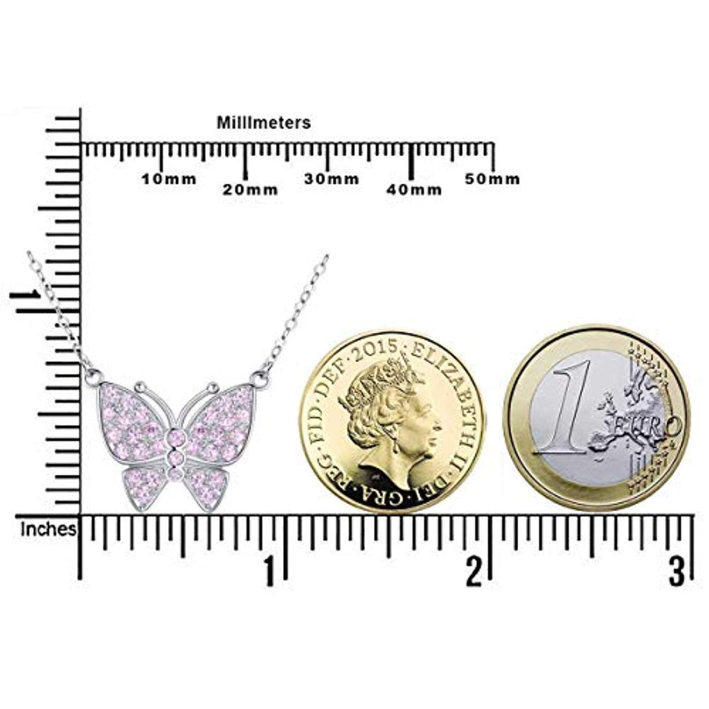 925 Sterling Silver Butterfly Pendant Necklace for Women Jewelery Gifts for Best Friend,Sister,Daughter