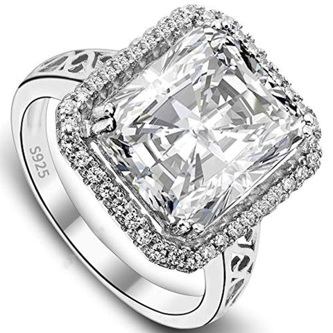 5 Carat Radiant Cut CZ Engagement Ring