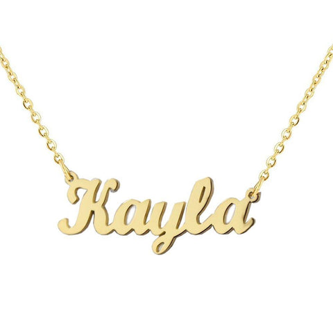 """Kayla"" Personalized Any Name Choker Necklace Adjustable 16""-20"""