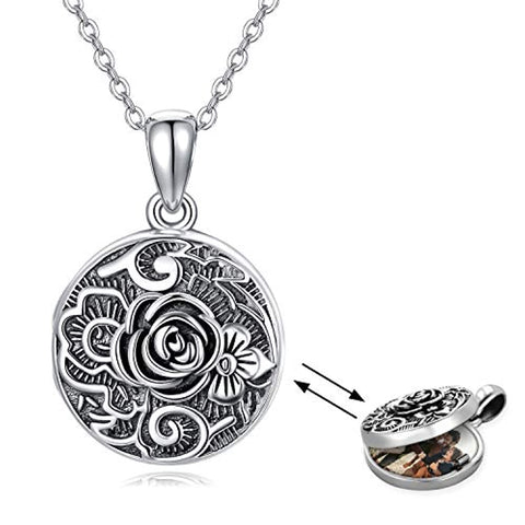 Rose Flower Locket Necklace