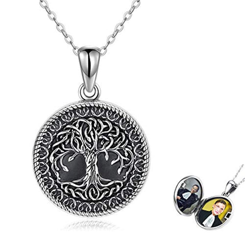 Silver Tree of Life Locket Necklace