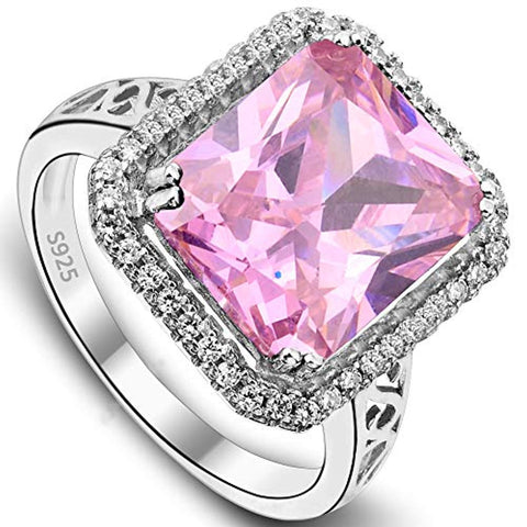 5 Carats Radiant Cut CZ Elegant Ring