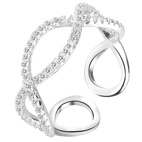 Infinity Engagement Wedding Cuff Ring