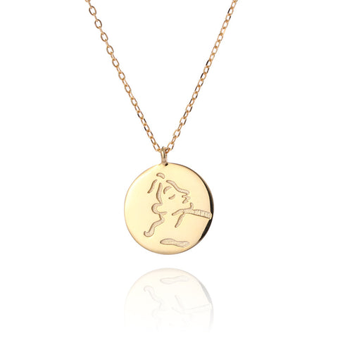 925 Sterling Silver Face Gold Necklace Europe And America Short Neck Chain K Gold Chic Cold Wind