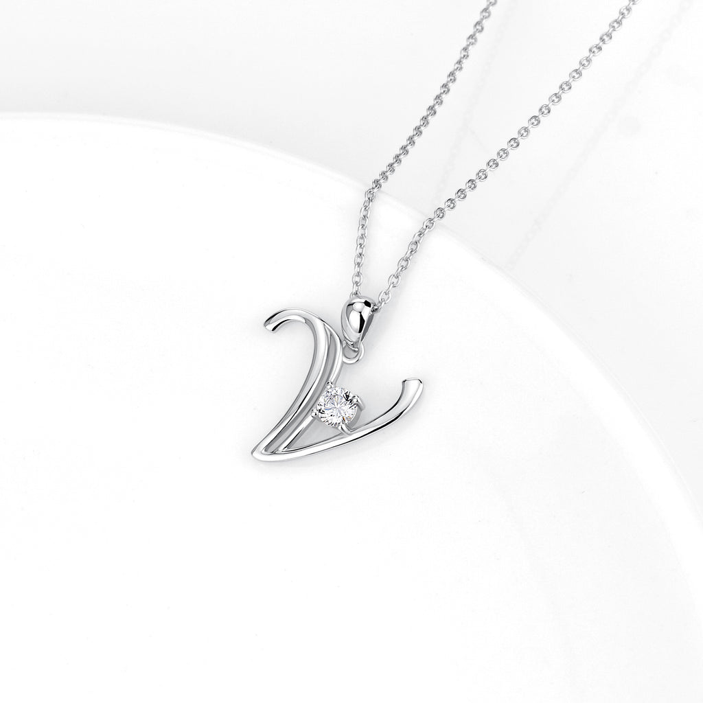 China wholesale jewelry custom Letter necklace for women gift