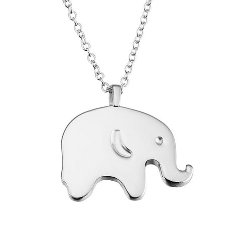 Elephant Animal Necklace Jewelry 2019 Silver Charms