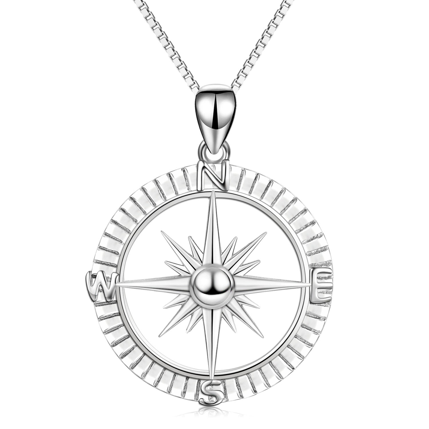 Compass Necklace East West South North Man Traveling Jewelry Necklace