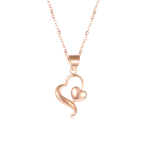 18K Gold European And American Fashion Creative Irregular Heart-Shaped Necklace
