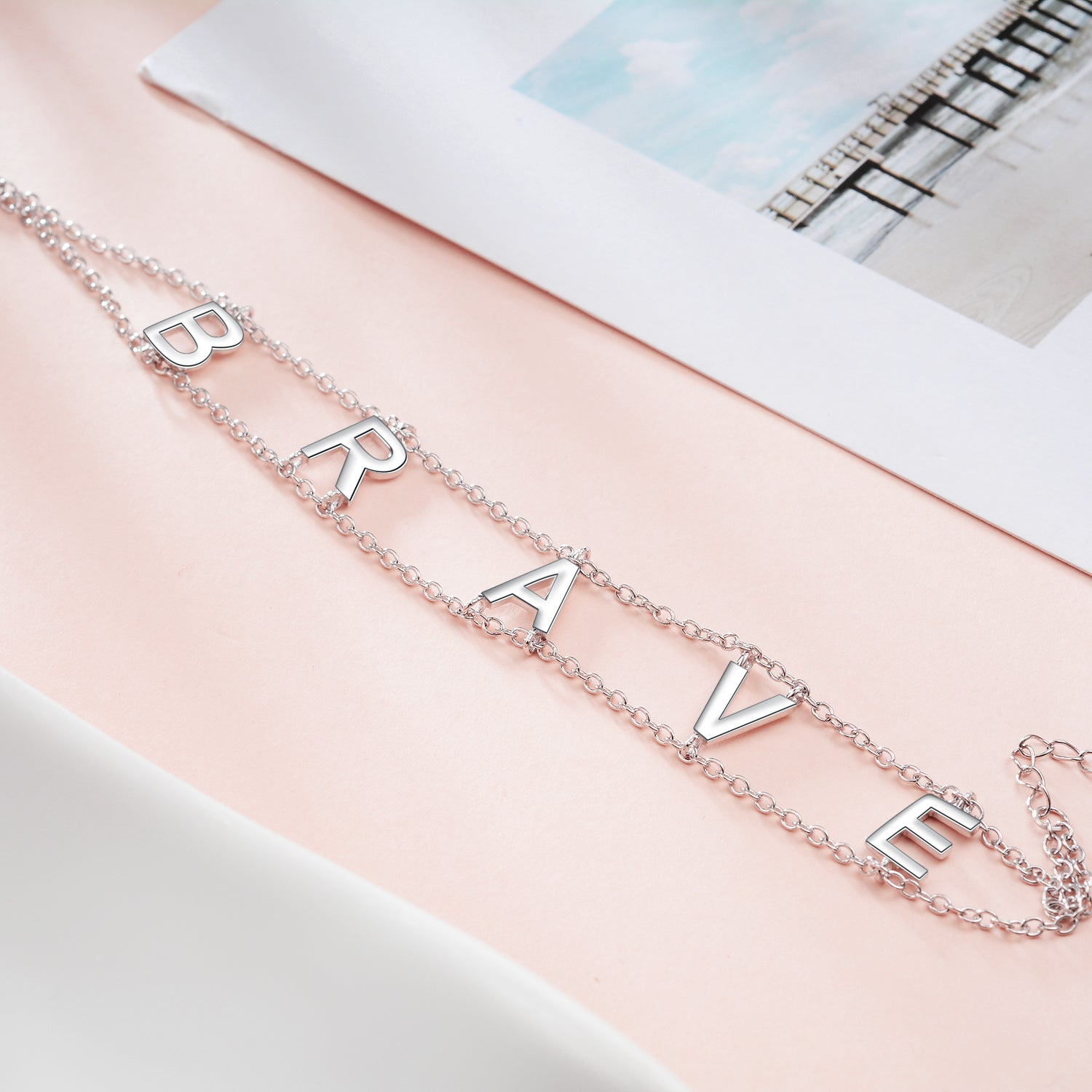 Hot Sale High Quality Factory Price Custom Letter Chain Women Bracelet