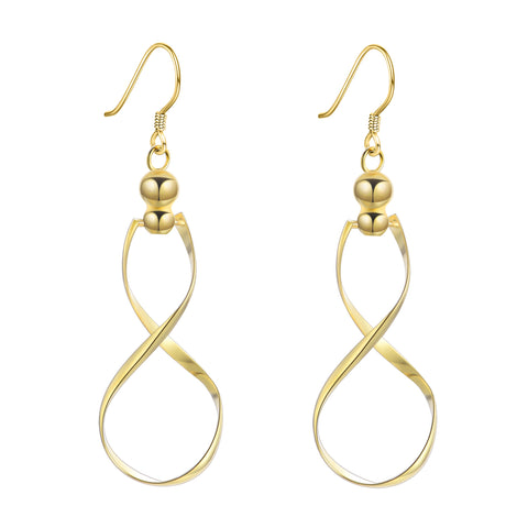 Infinity Earrings Best Selling Silver Drop Shipping Small Moq Earrings