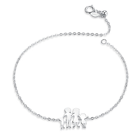 silver white gold plated home bracelet