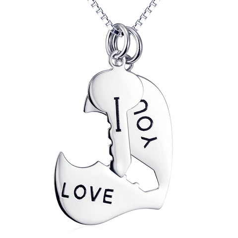 I Love You Forever Necklace 925 Sterling Silver Jewelry For Lovers