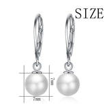 Best Quality Freshwater Pearl Earrings Design 925 Sterling Silver Earrings Design