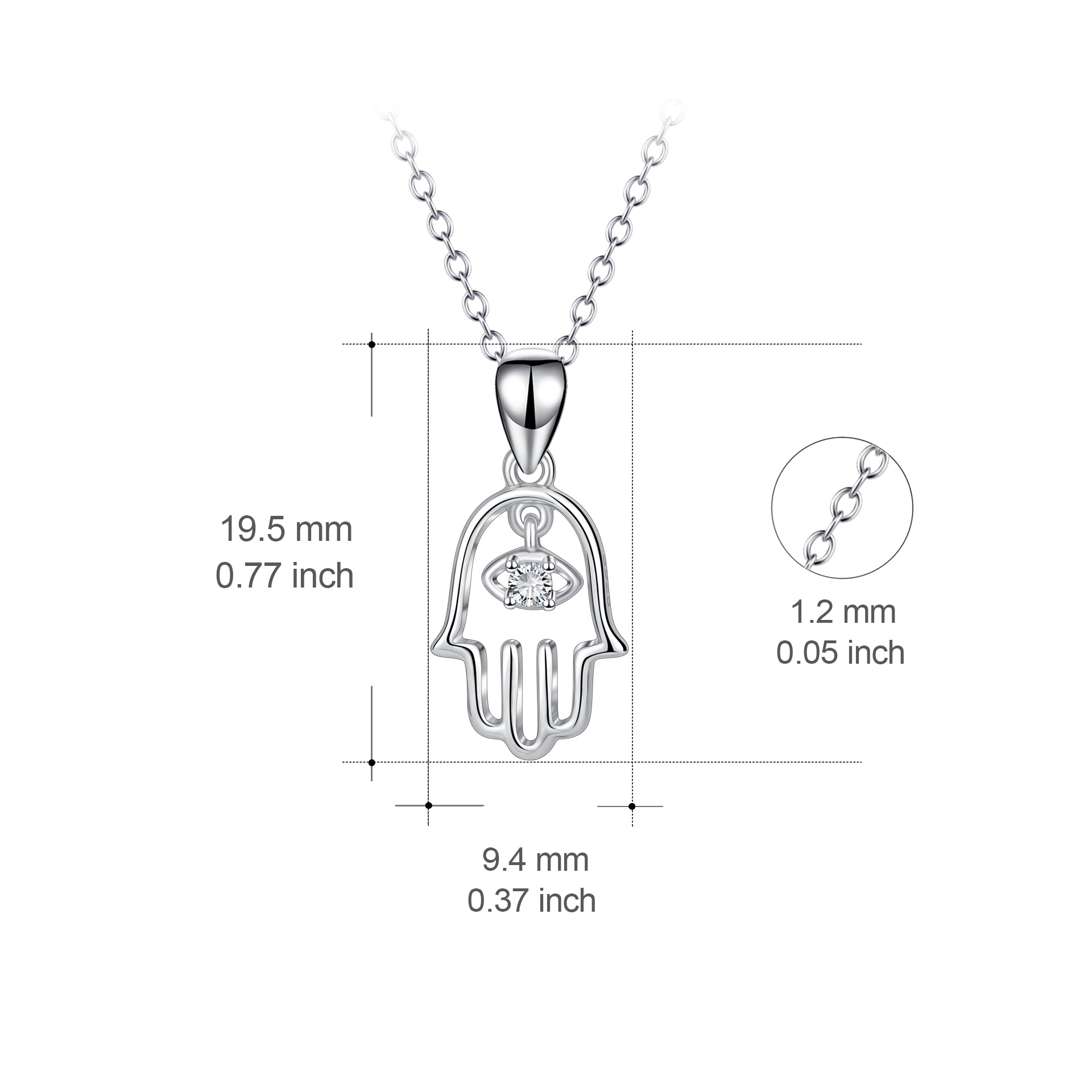 Hanging Pendant Necklace European Silver Chain Necklace Wholesale