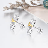 Cat Earrings Different Color Plating Earring For Beautiful Girls Design