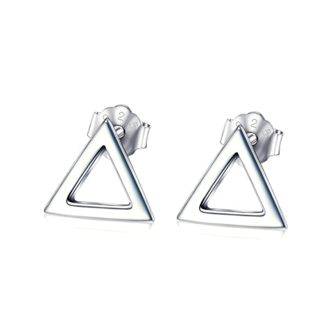 Geometric Design Stud Earring For Beautiful Girl Wholesale Silver