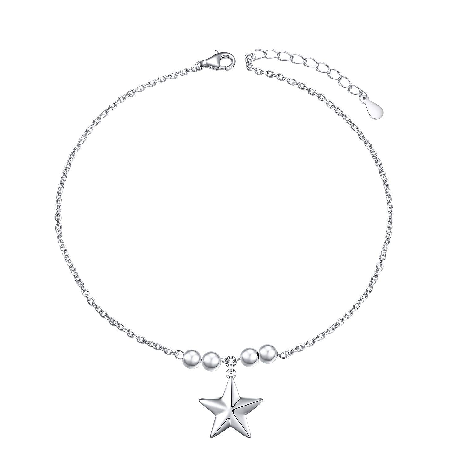 Star Charm Adjustable Foot Ankle Bracelet
