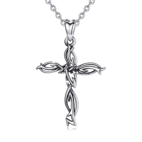 S925 Sterling Silver Cross Necklace Pendant for Women