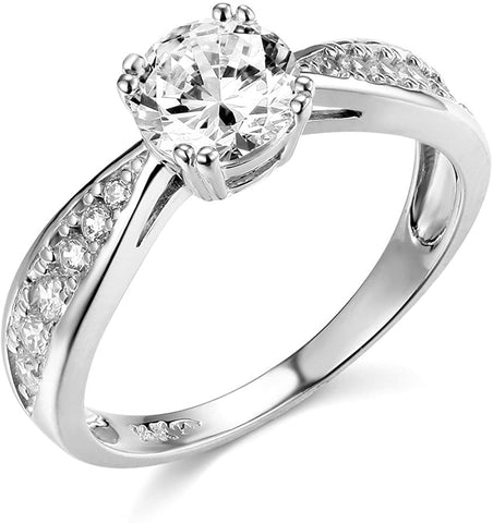 Unique 14k Yellow OR White Gold Engagement Ring Wedding Band