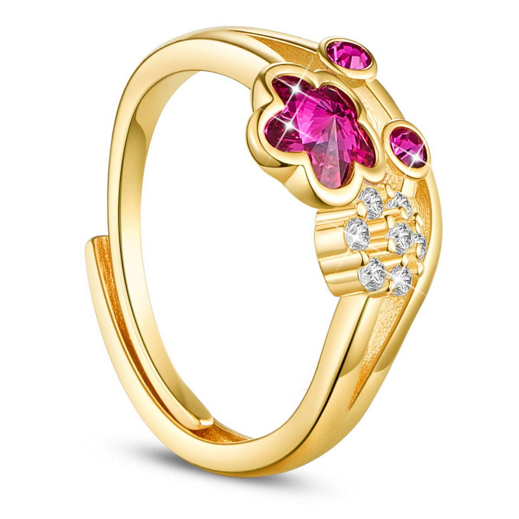 925 Sterling Silver 24K Gold/Rose Gold Plated with Cubic Zirconia Crystal Ring