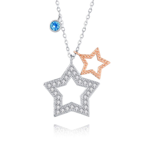 925 Sterling Star Pendant Necklace Gifts Inspirational Jewelry