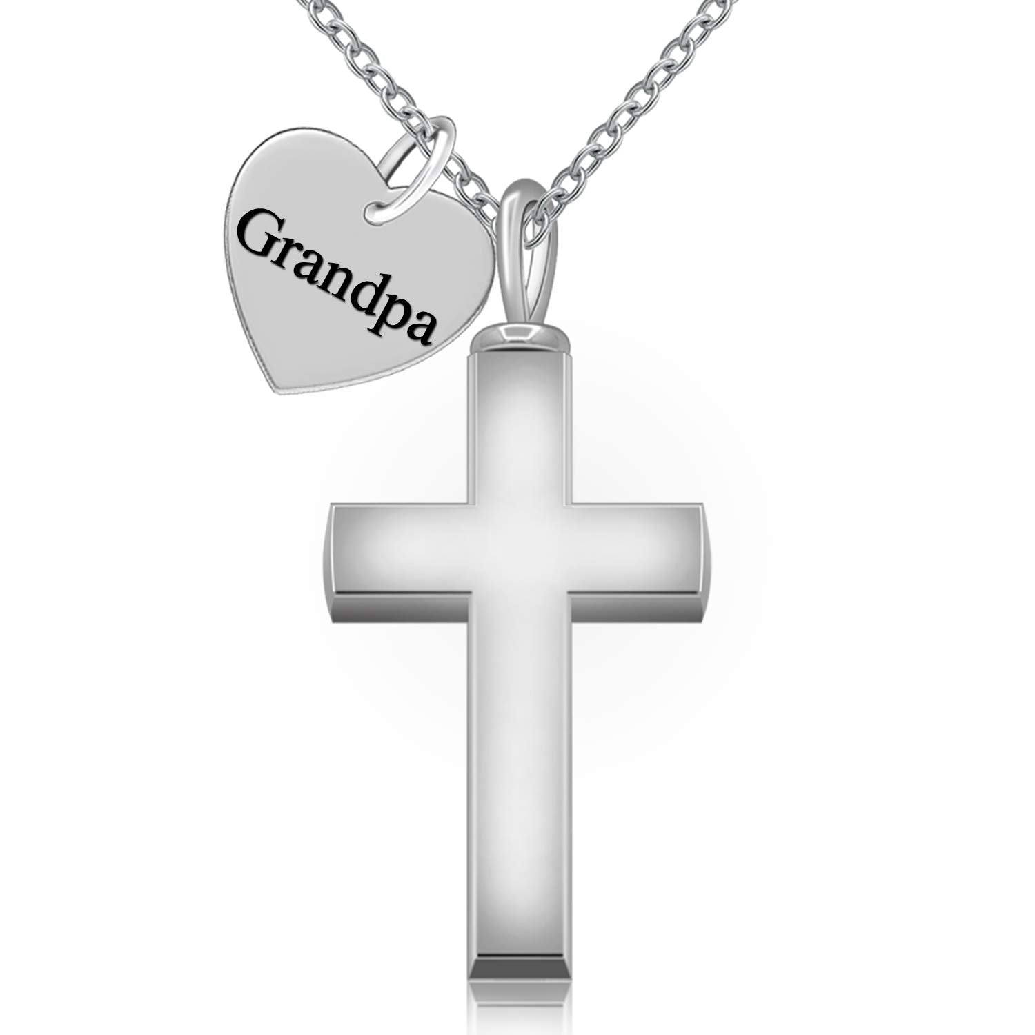 Forever in My Heart Cross Urn Ashes Necklace