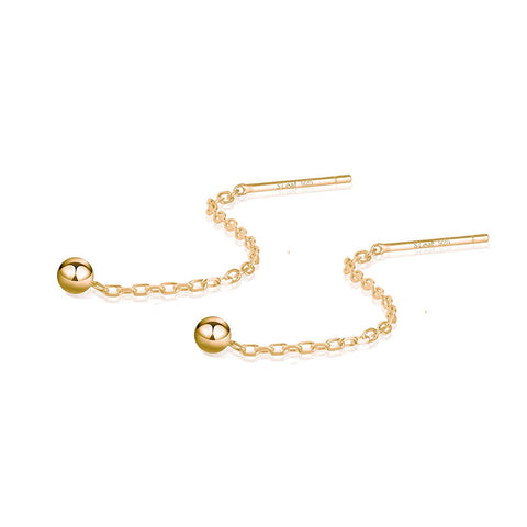 Gold Earrings for Women Threader Earrings Sterling Silver Chain Tassel Earrings