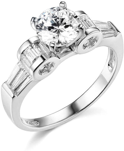 14k Yellow OR White Gold Wedding Engagement Ring For Lovely Ladies